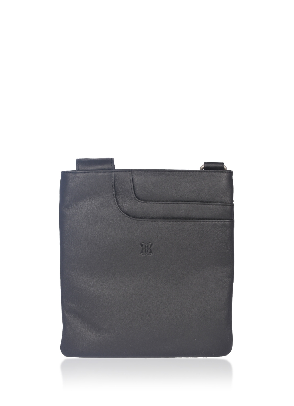 Alexsis Leather Cross Body Bag in Black