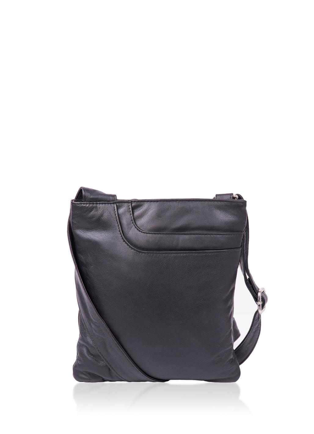 Alexsis Leather Cross Body Bag in Black -