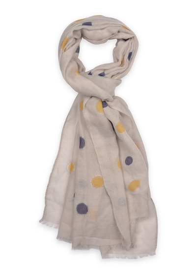 Annika Spotted Scarf in Grey
