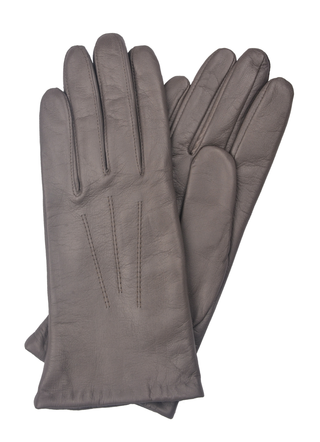 Becky Classic Leather Glove in Grey