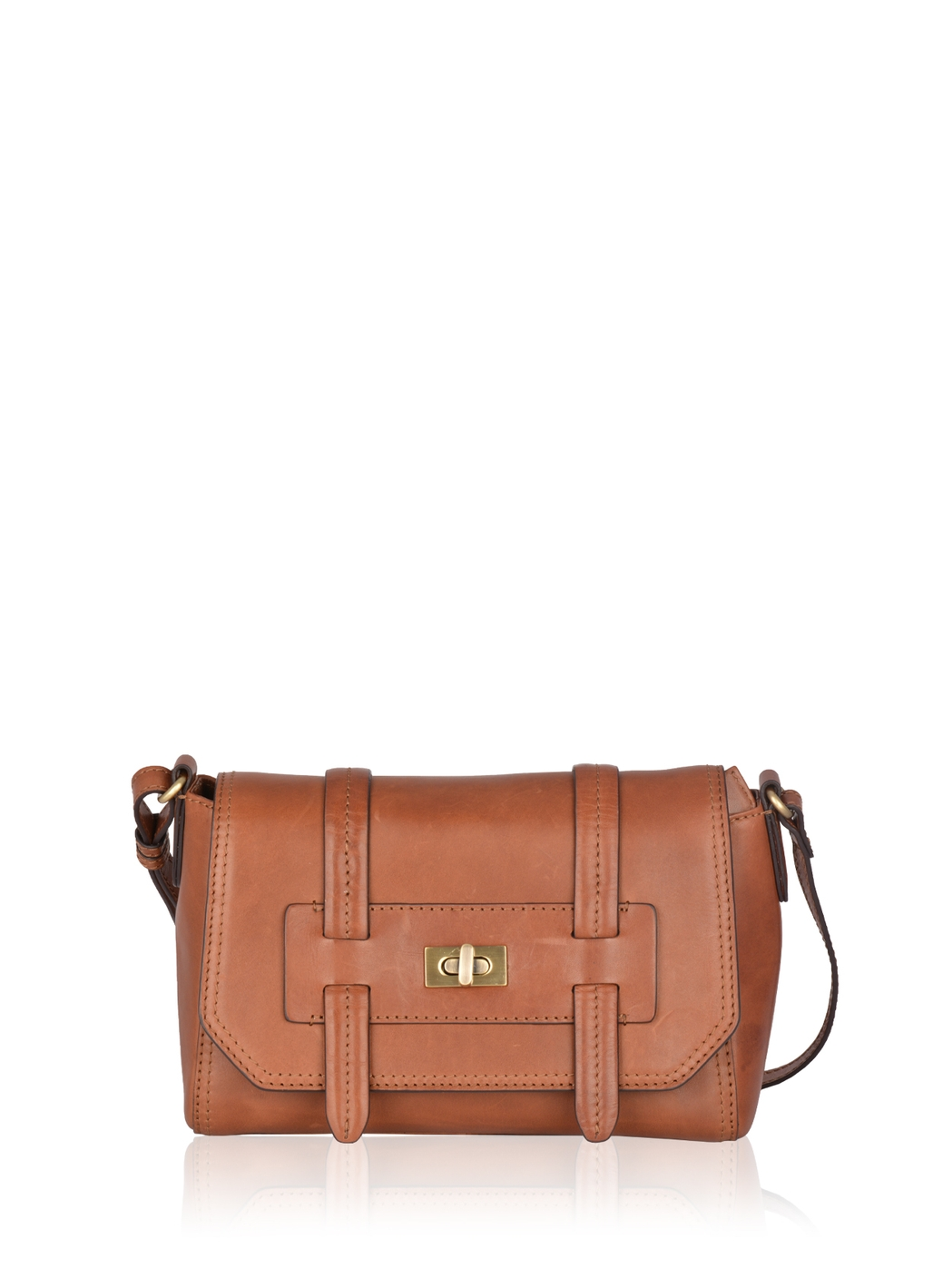 Brampton Leather Cross Body Bag in Brown