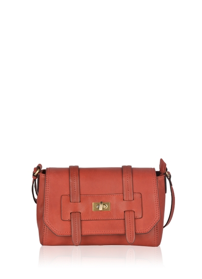 Brampton Leather Cross Body Bag in Red