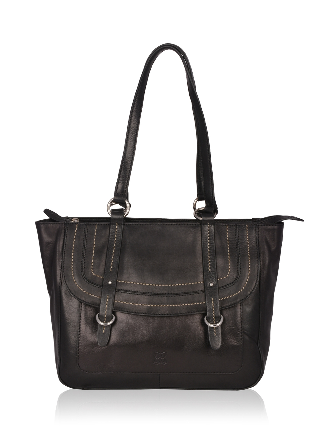 Buttermere Leather Shopper Bag in Black