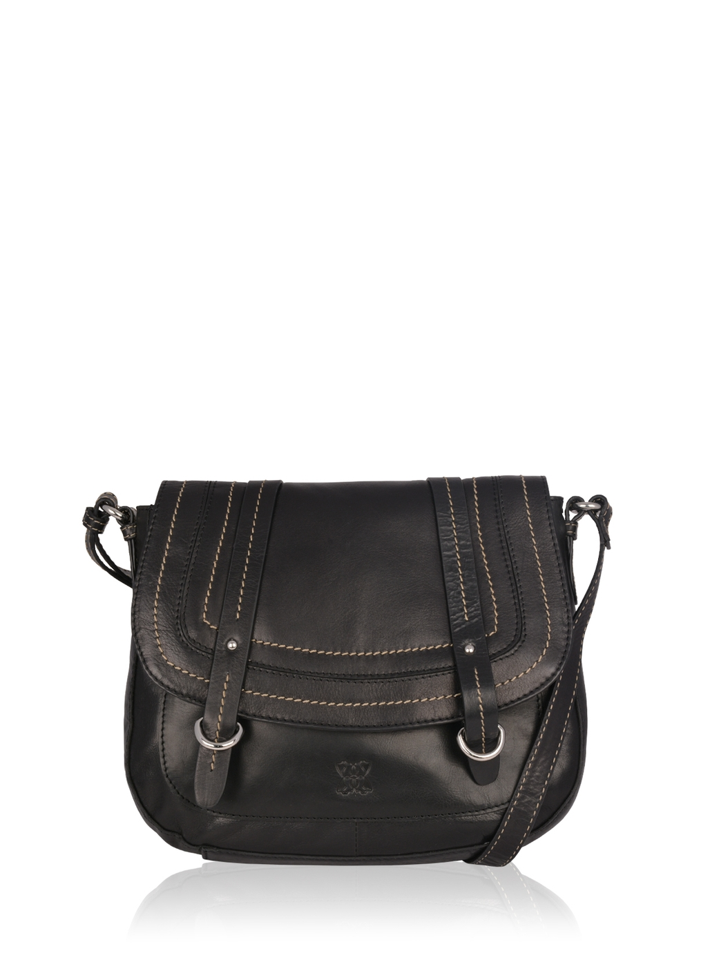 Buttermere Leather Shoulder Bag in Black