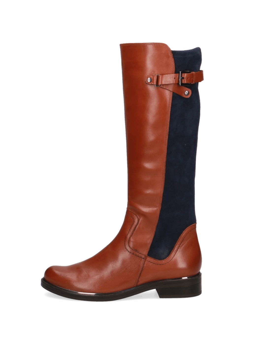 Caprice Emma Knee-High Leather Boots in Cognac