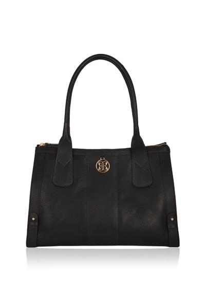 Derwent Leather Shopper Bag in Black