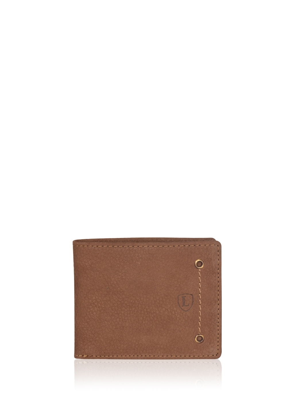 Edward Bi-Fold Leather Wallet in Coffee Brown