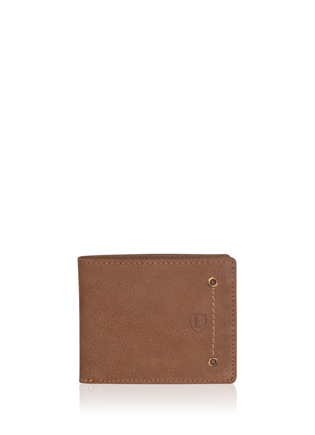 Edward Bi-Fold Leather Wallet in Coffee Brown