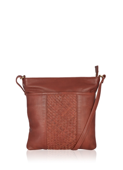 Gosforth Classic Leather Cross Body Bag in Burgundy