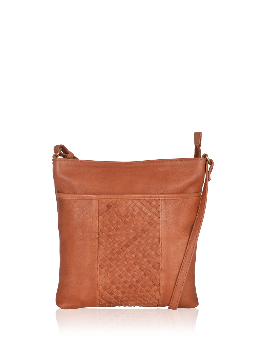 Gosforth Classic Leather Cross Body Bag in Tan
