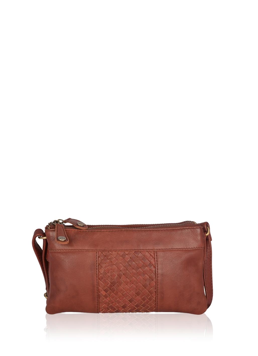 Gosforth Leather Cross Body Bag in Burgundy