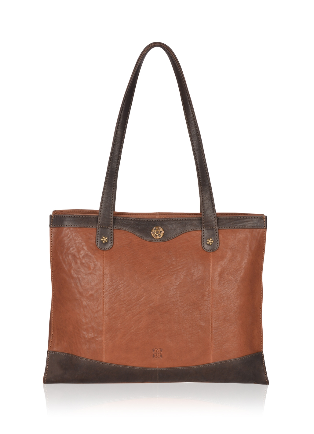Hartsop Large Leather Shoulder Bag in Brown
