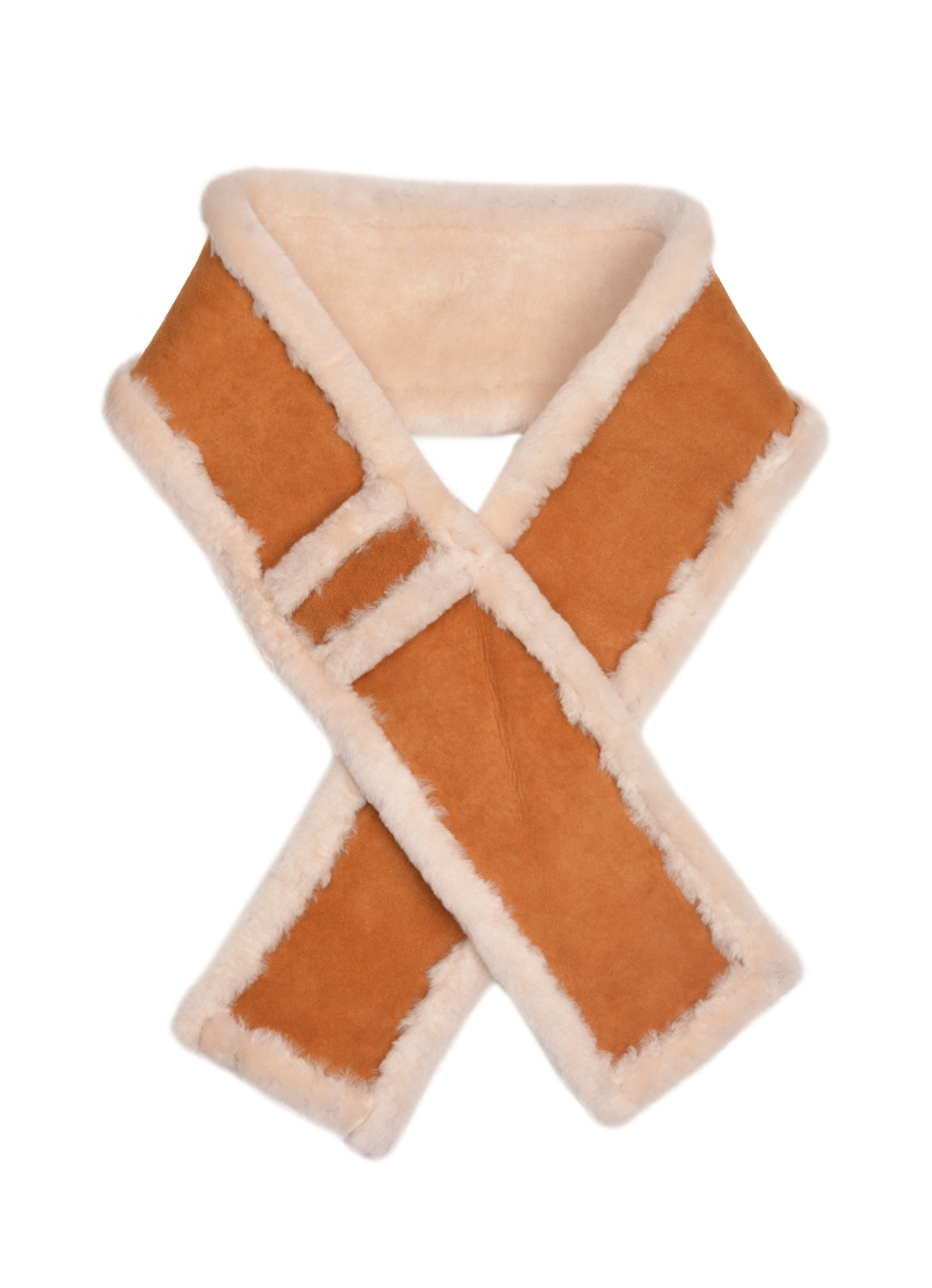 Holly Sheepskin Scarf in Tan