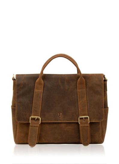 Hunter Leather Briefcase in Tan