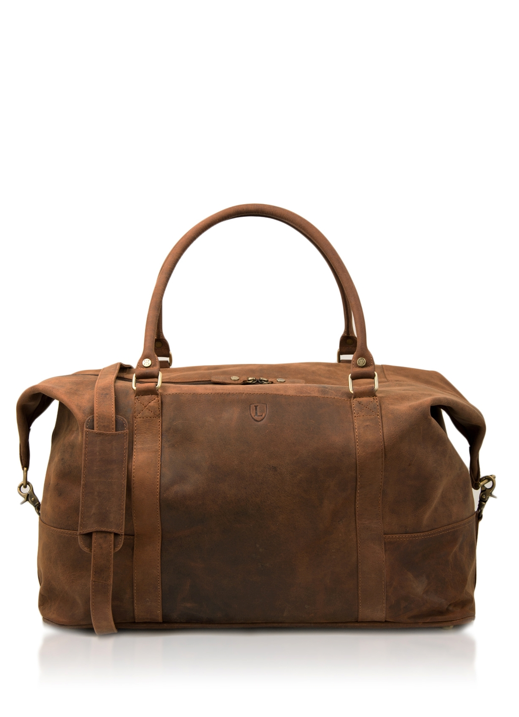 Hunter Leather Holdall in Tan
