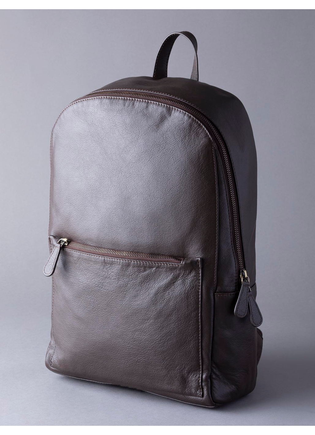 Scarsdale Leather Backpack in Brown