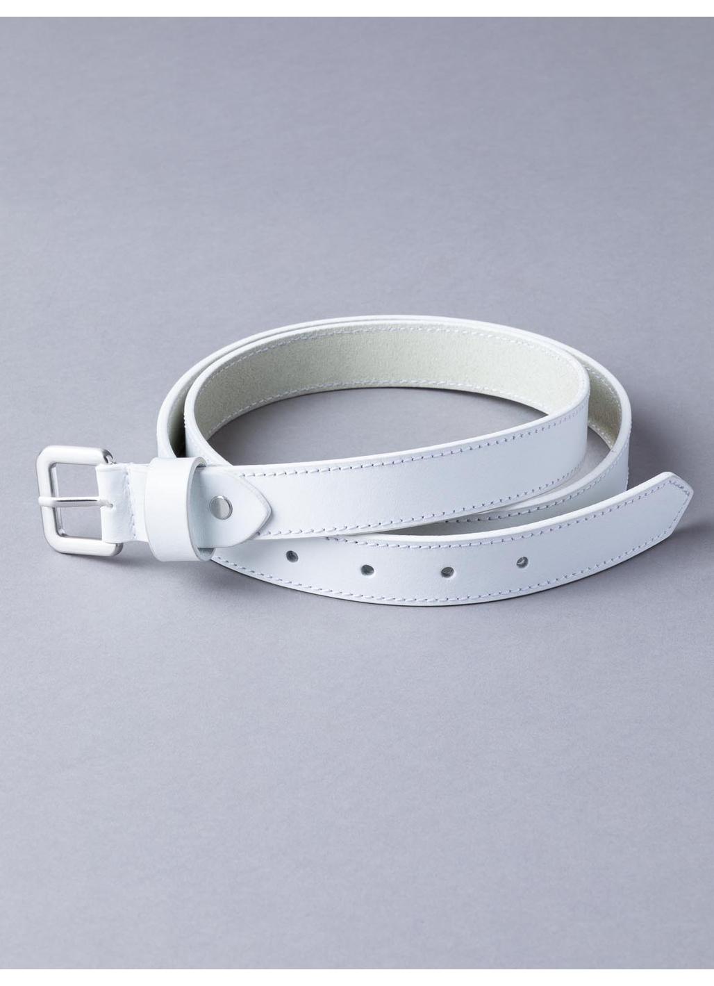 Keswick Leather Belt in White