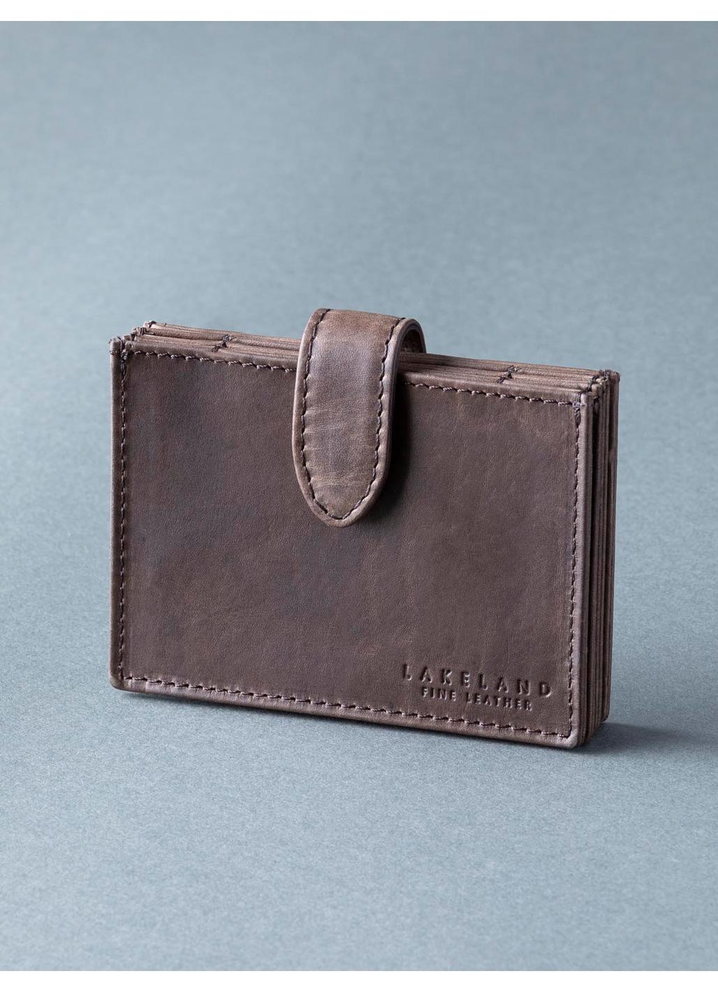 Walton Leather Cardholder in Dark Brown