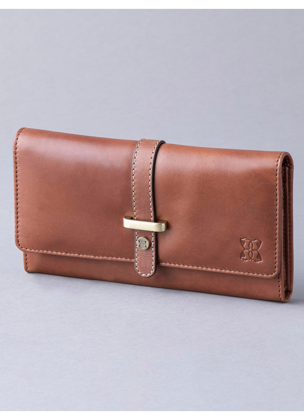 Butterwick Leather Flapover Purse in Chestnut