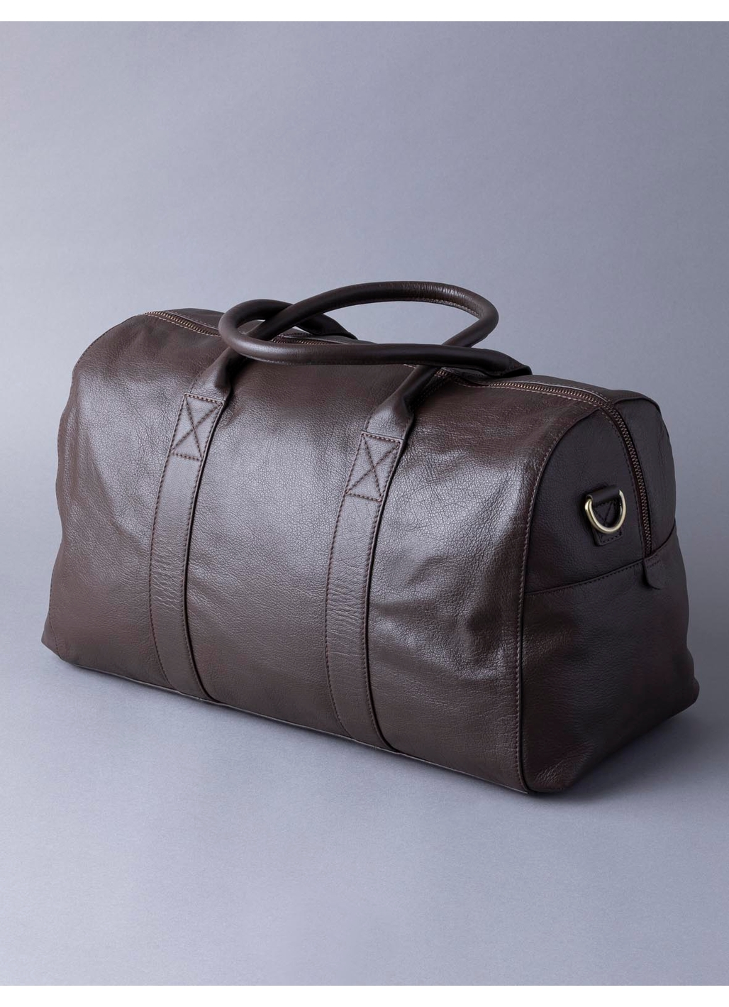 Scarsdale Leather Holdall in Brown