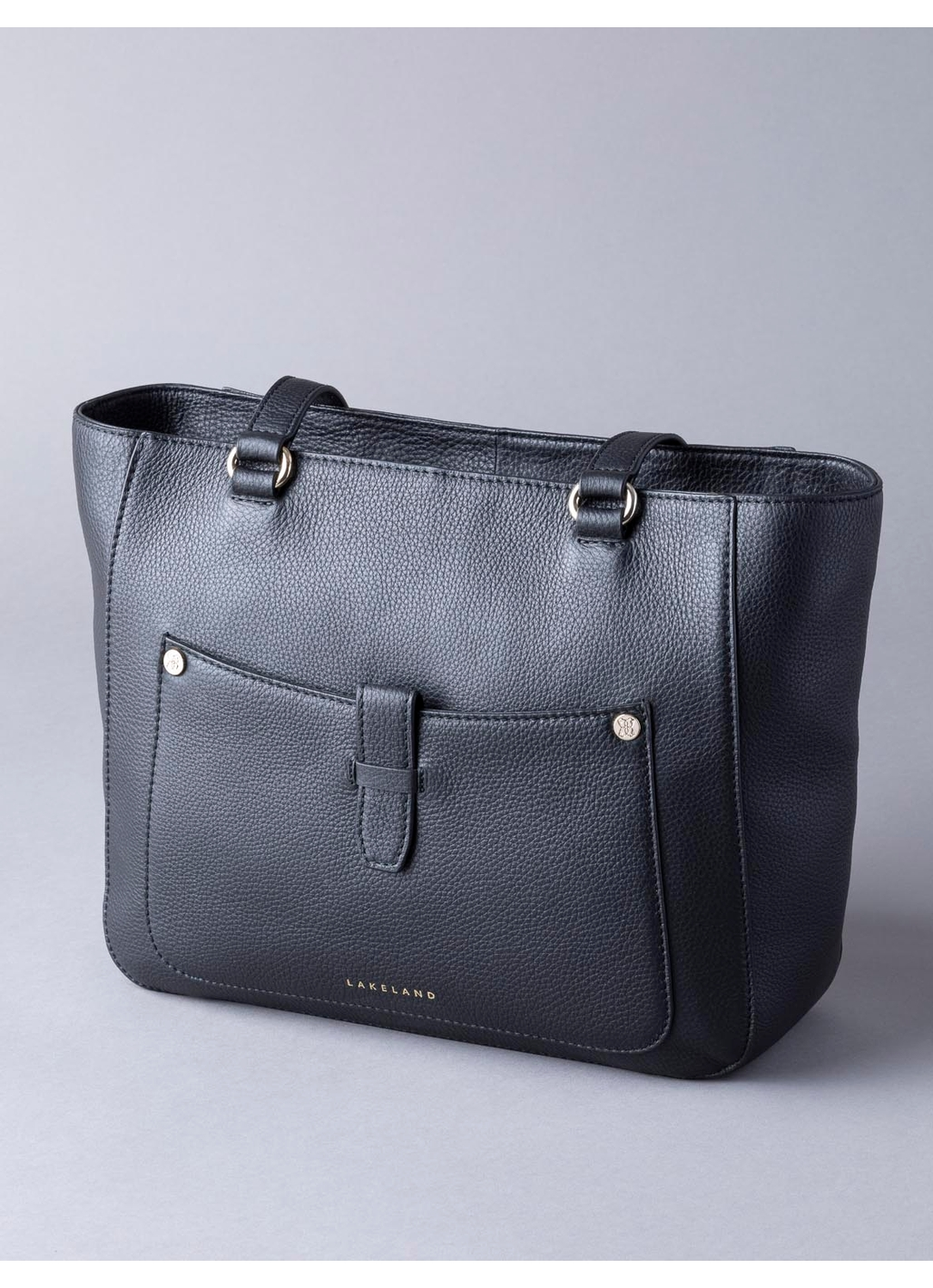 Fairfield Leather Tote Bag in Black