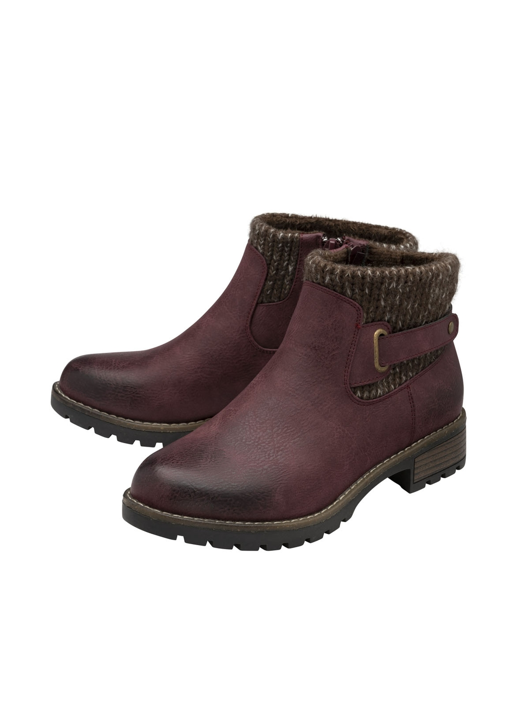 Lotus Fearne Ankle Boots in Burgundy