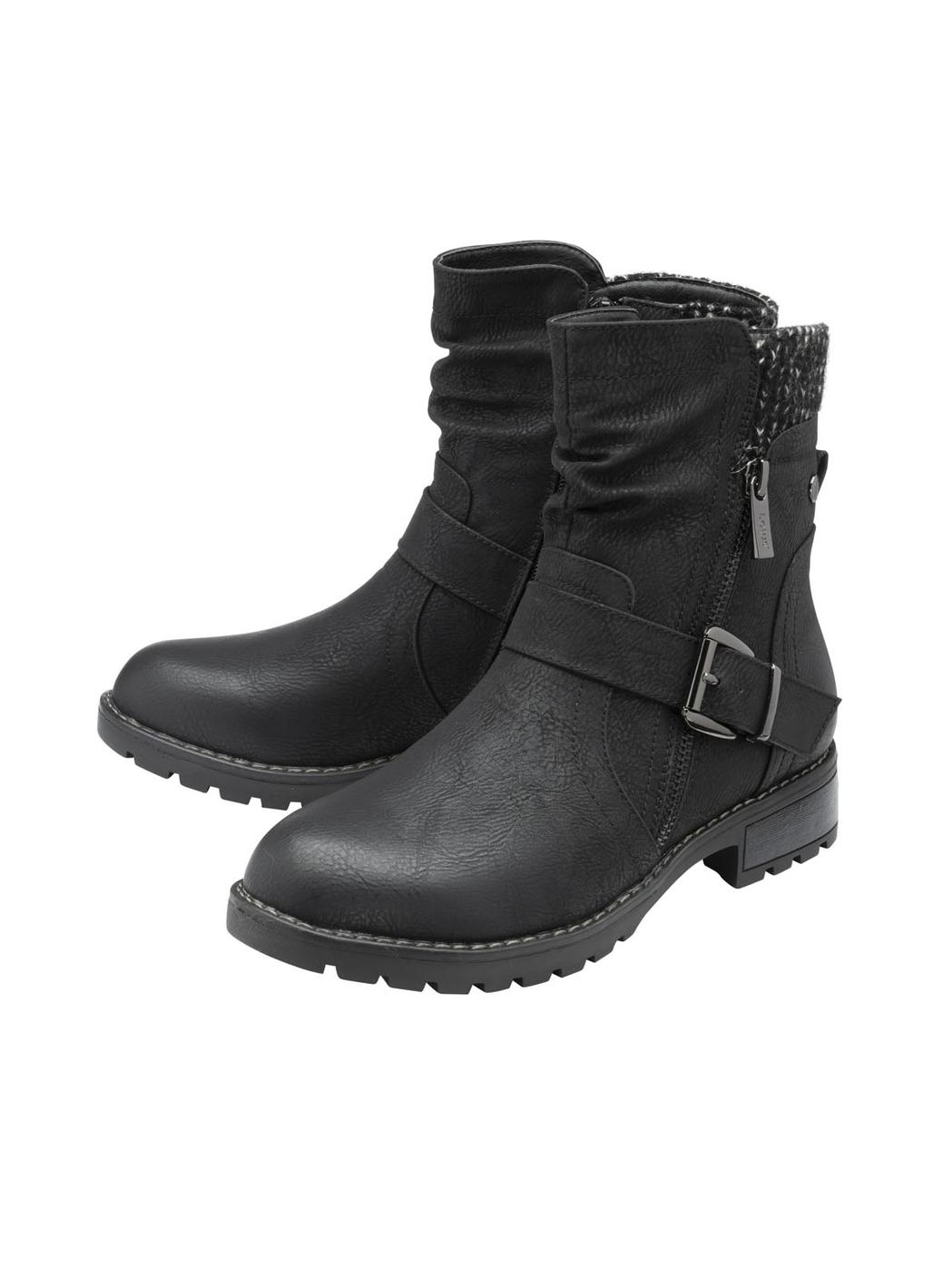 Lotus Jemma Mid-Calf Boots in Black