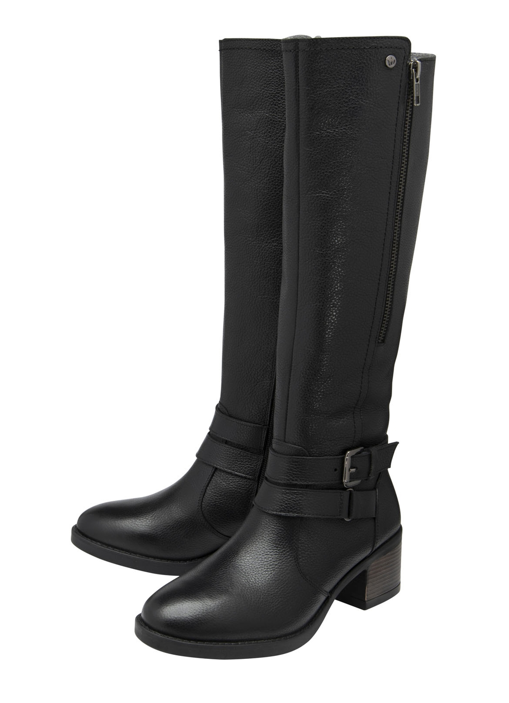 Lotus Jive Knee High Leather Boots in Black