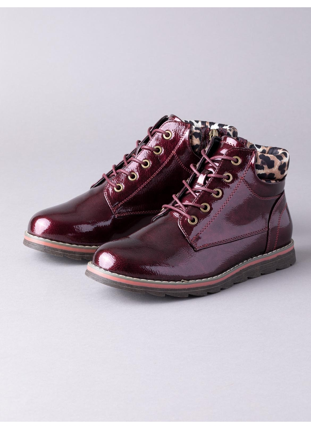 Lotus Naomi Ankle Boots in Burgundy
