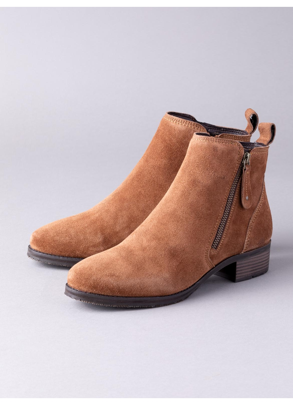 Lotus Samara Suede Ankle Boots in Tan
