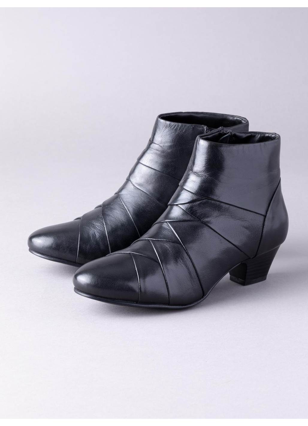Lotus Tara Leather Ankle Boots in Black
