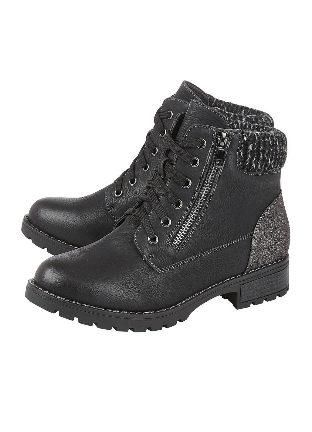 Lotus Emmeline Ankle Boots in Black