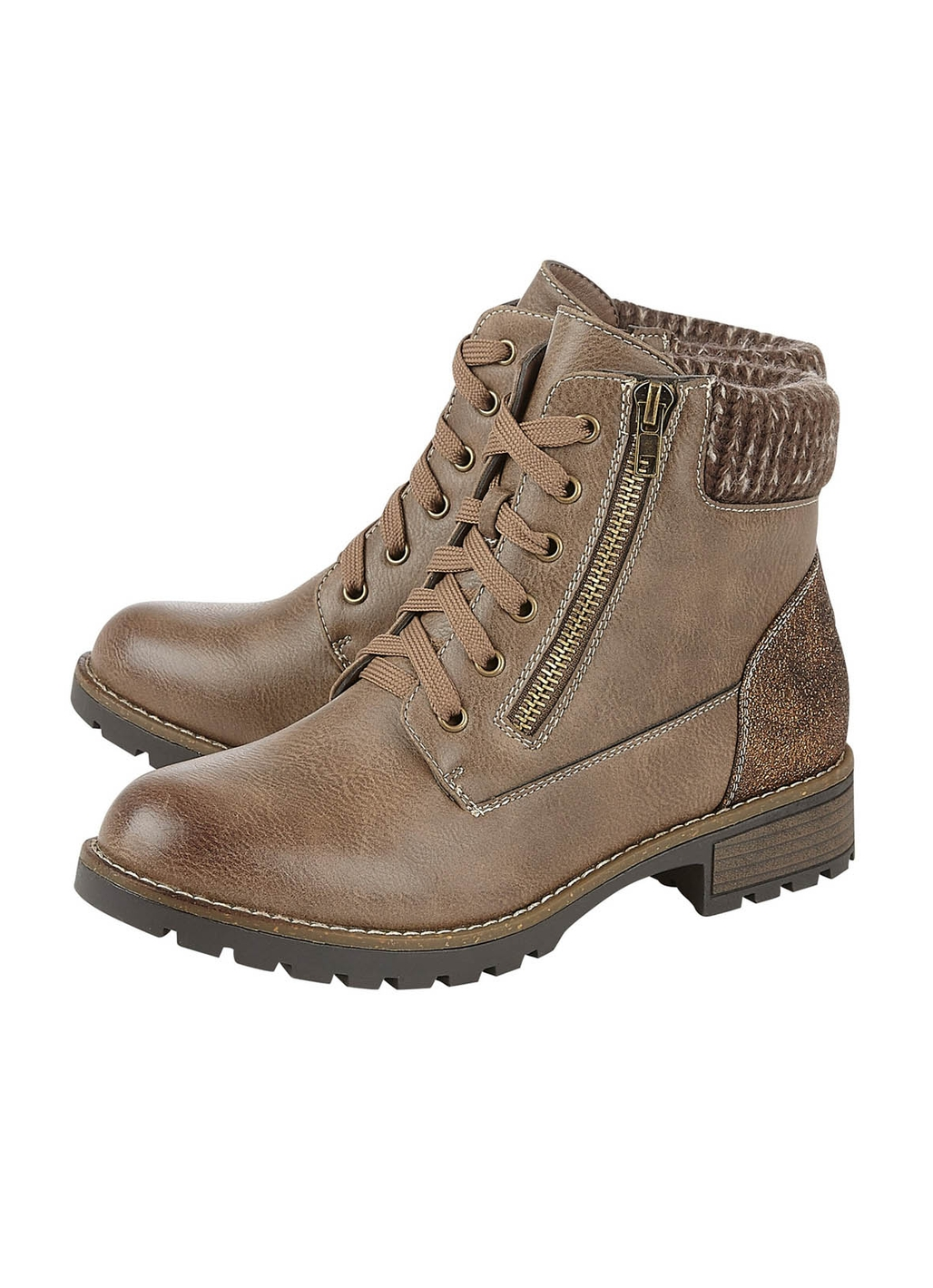Lotus Emmeline Ankle Boots in Taupe