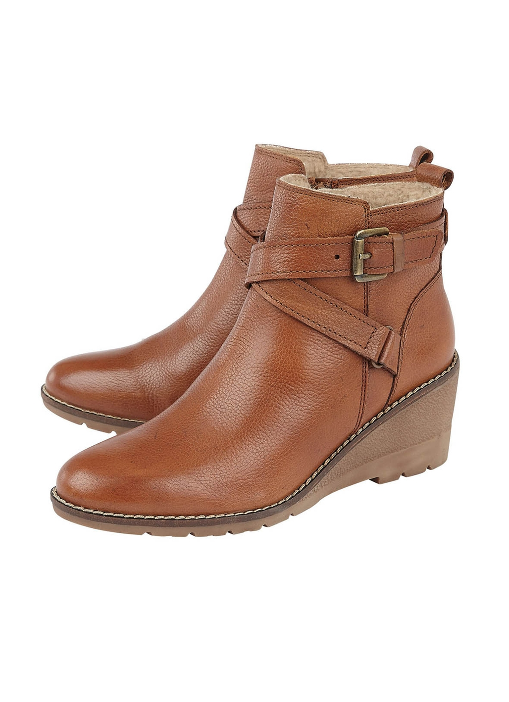Lotus Petra Leather Ankle Boot in Tan