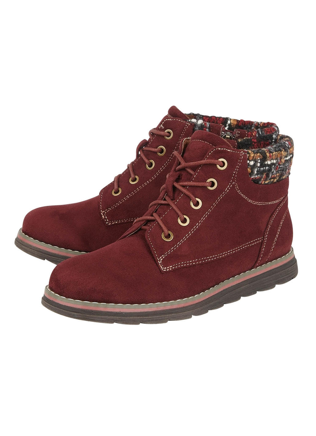 Lotus Sycamore Ankle Boots in Bordeaux