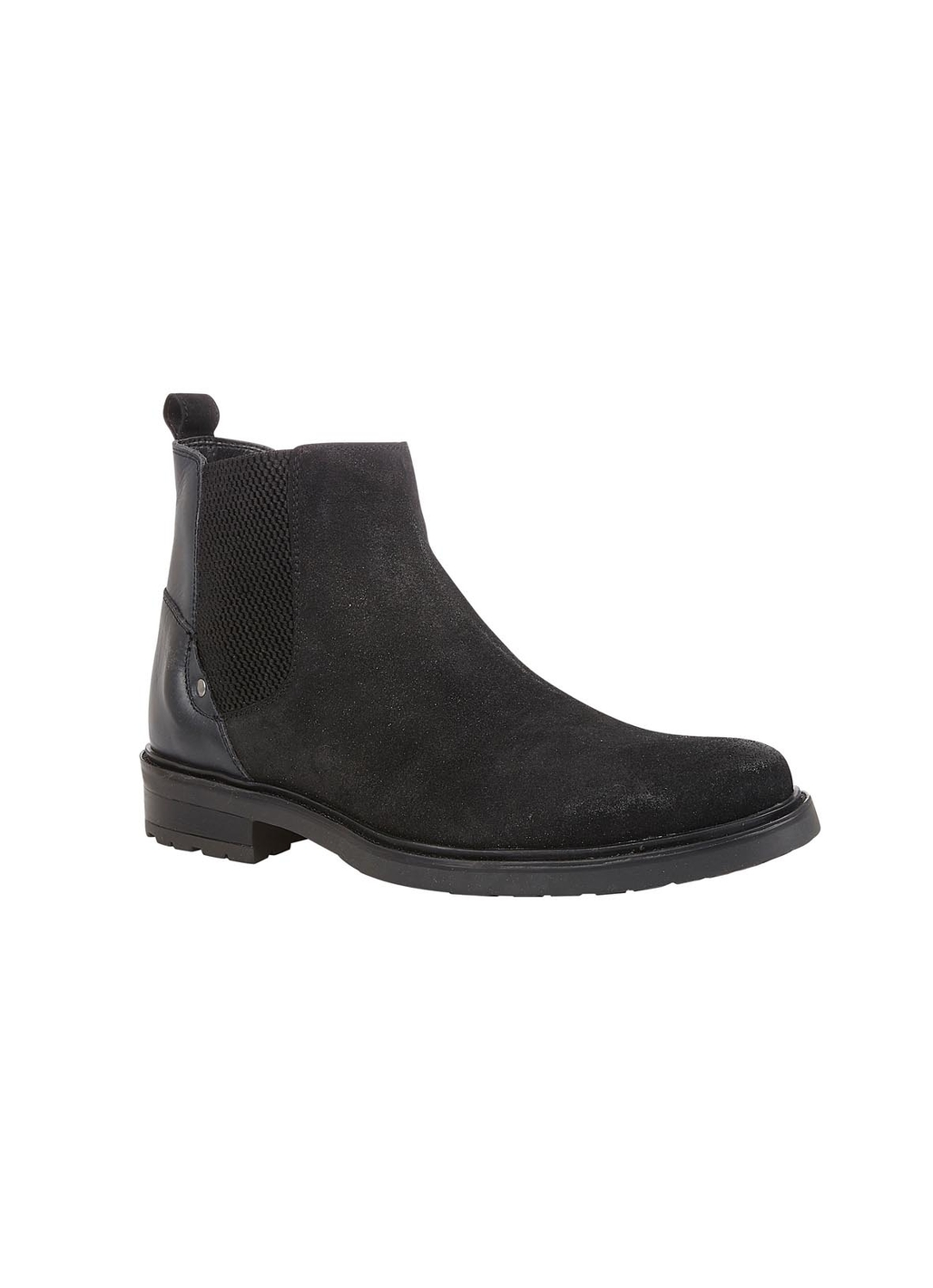 Lotus Fabian Leather & Suede Boot in Black