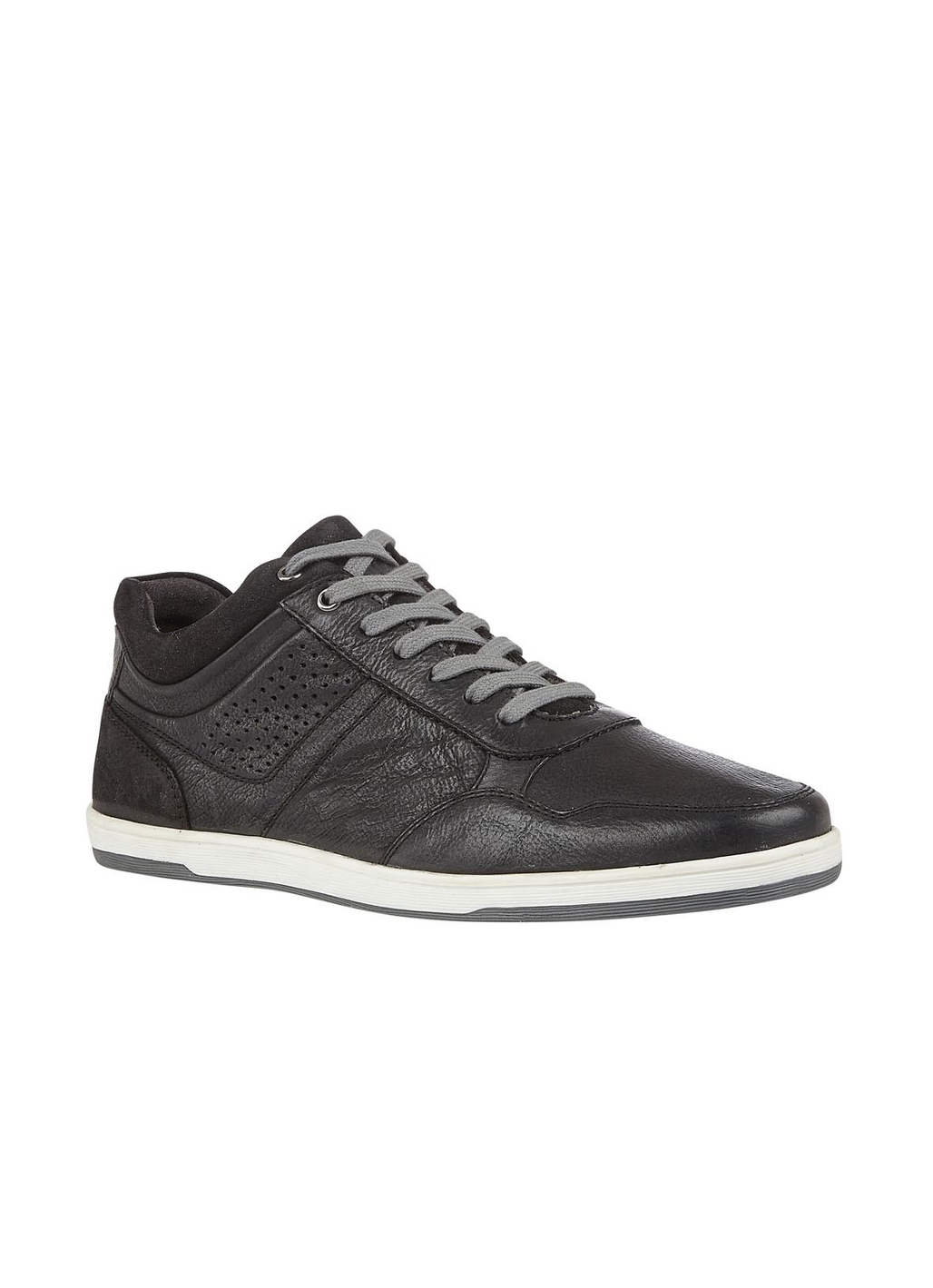 Lotus Willard Leather Trainer Style Shoe in Black