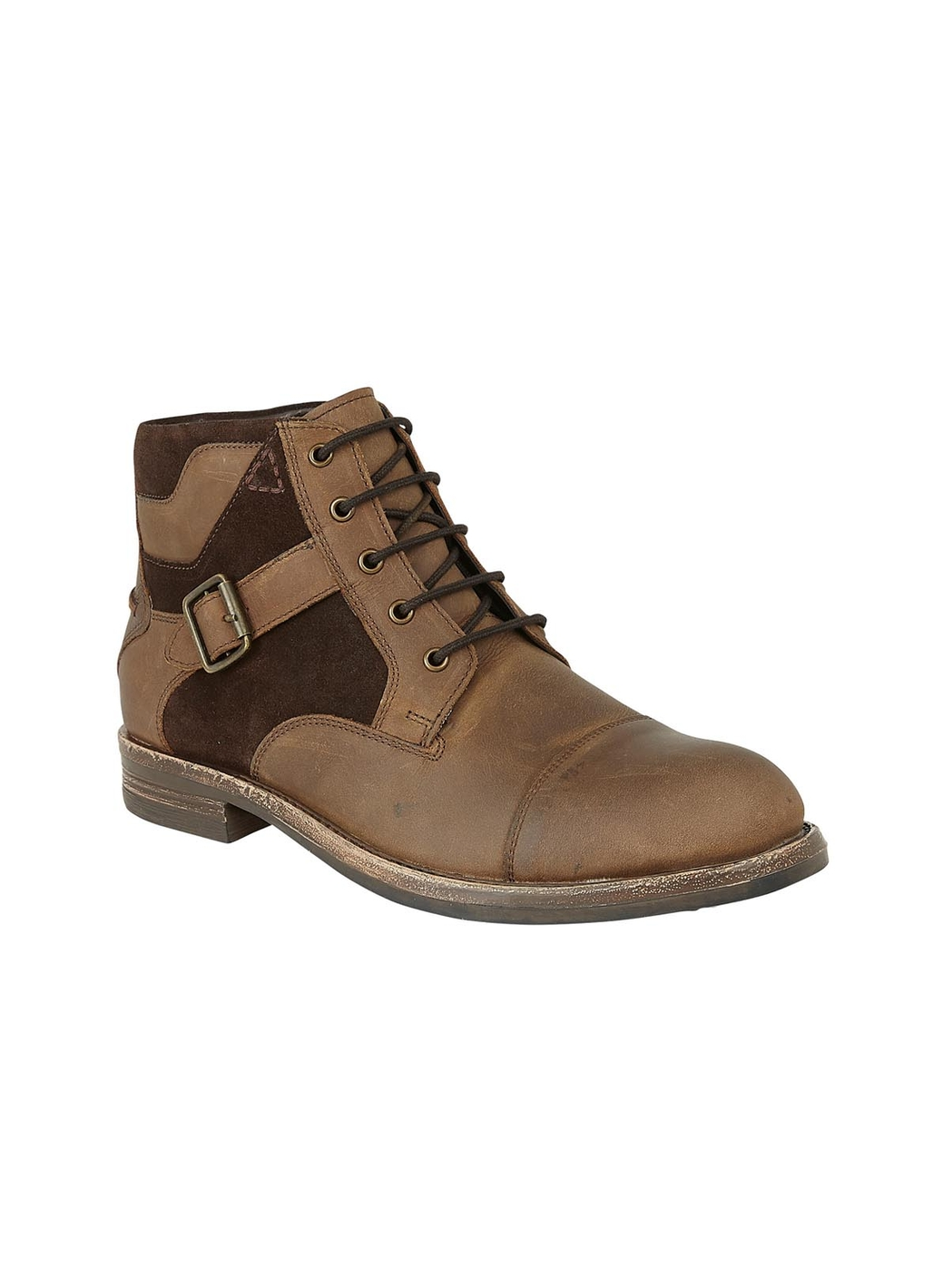 Lotus Irvine Leather & Suede Lace Up Boot in Brown