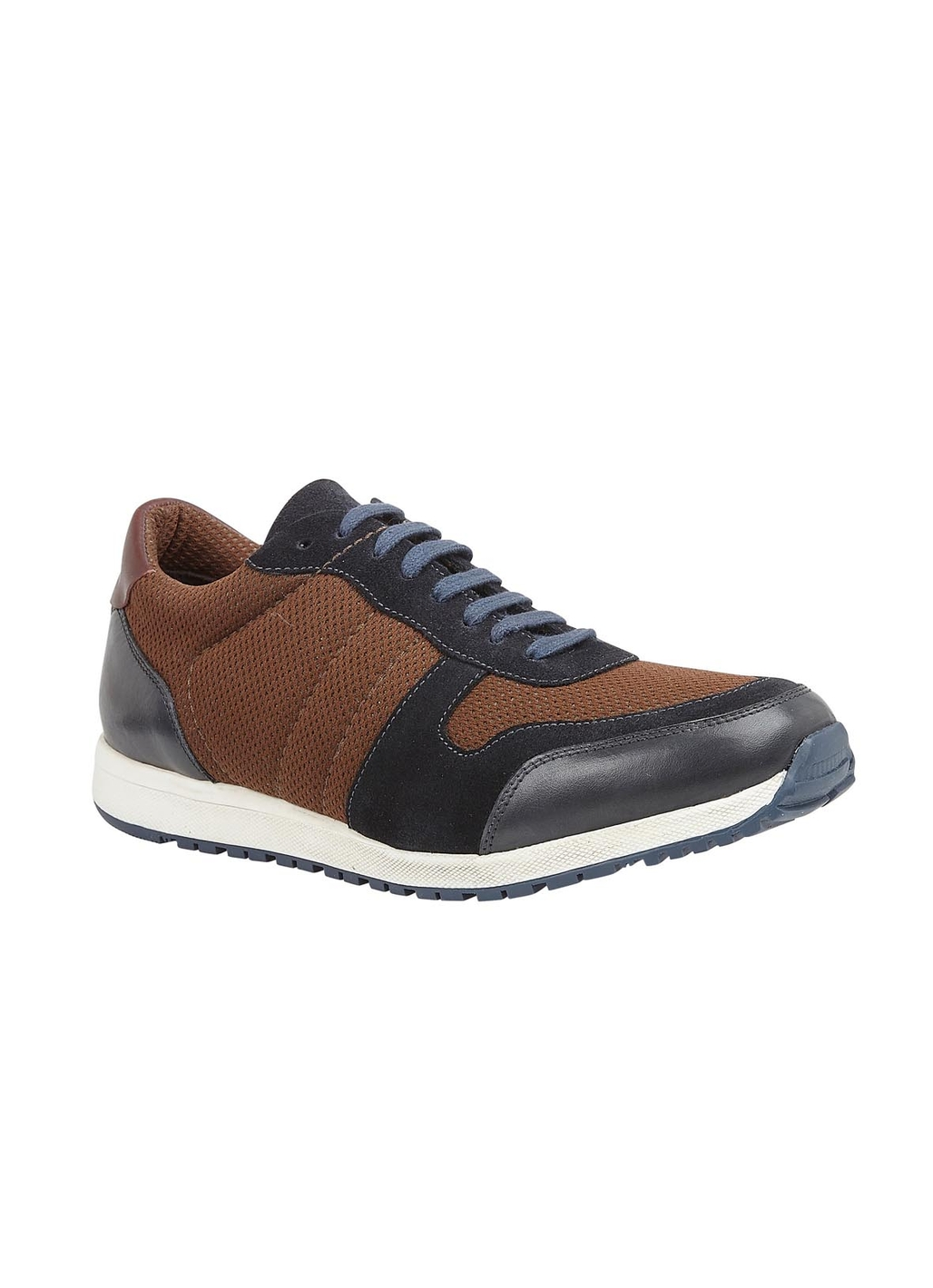 Lotus Barrie Leather Trainer Style Shoe in Navy