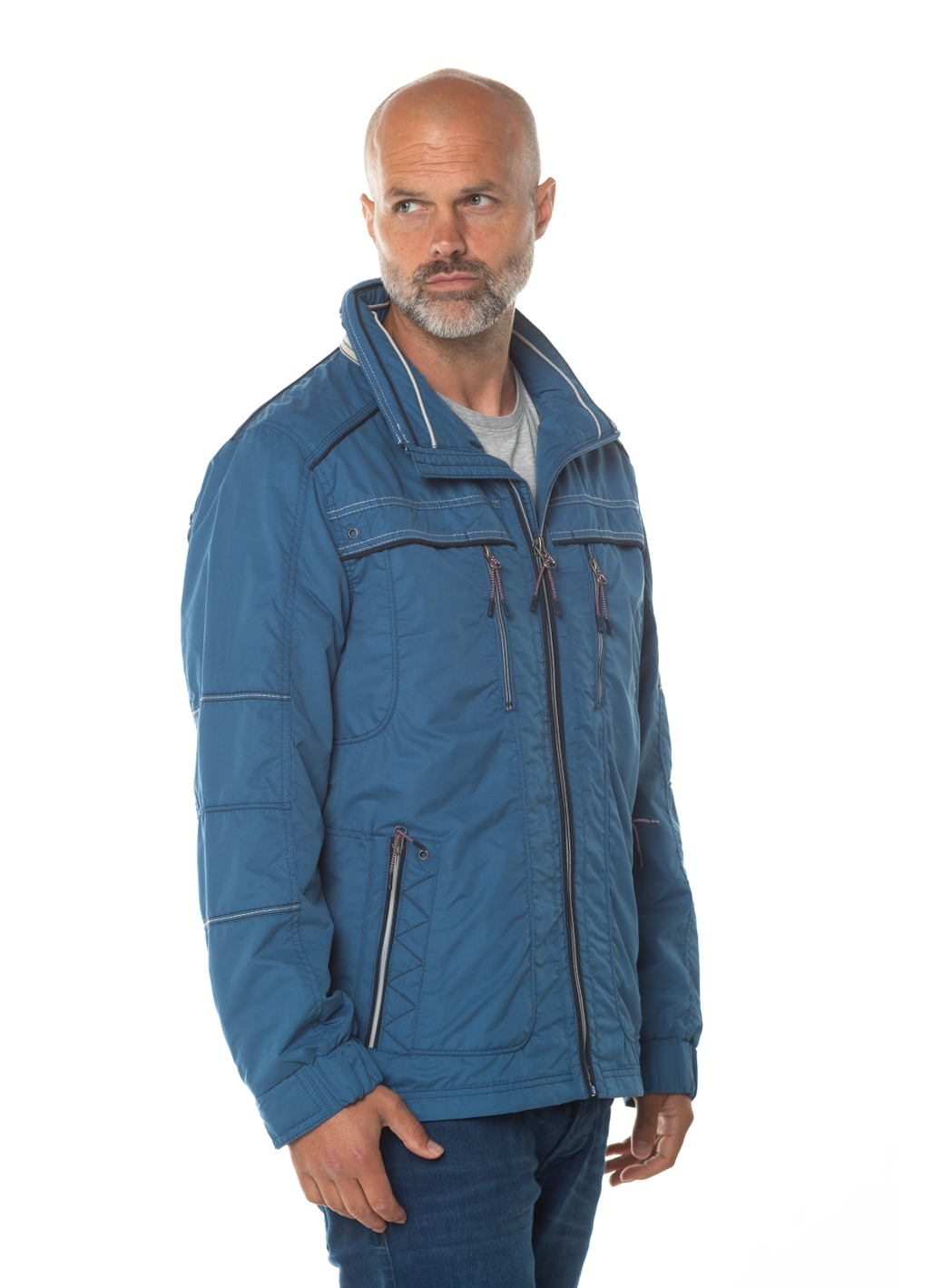 Andre Water Repellent Jacket in Blue