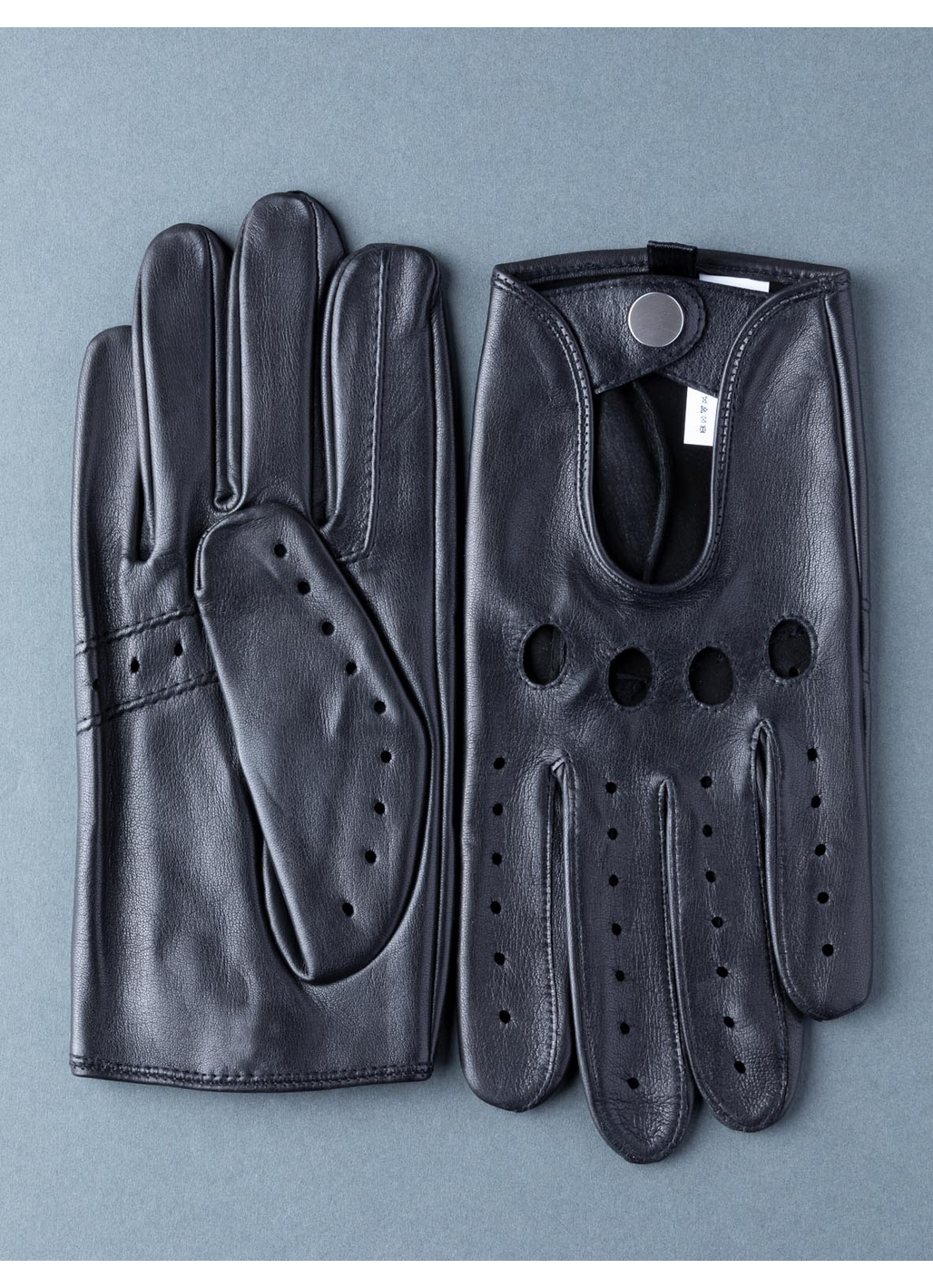 Monza Leather Driving Gloves in Black