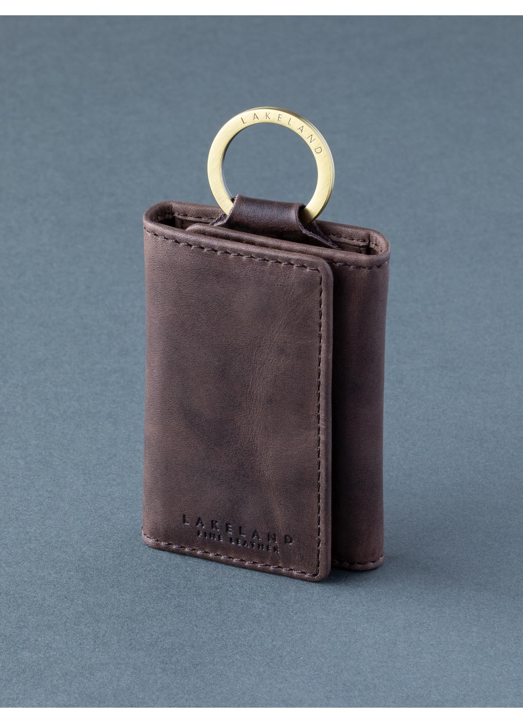 Walton Leather Keycase in Brown