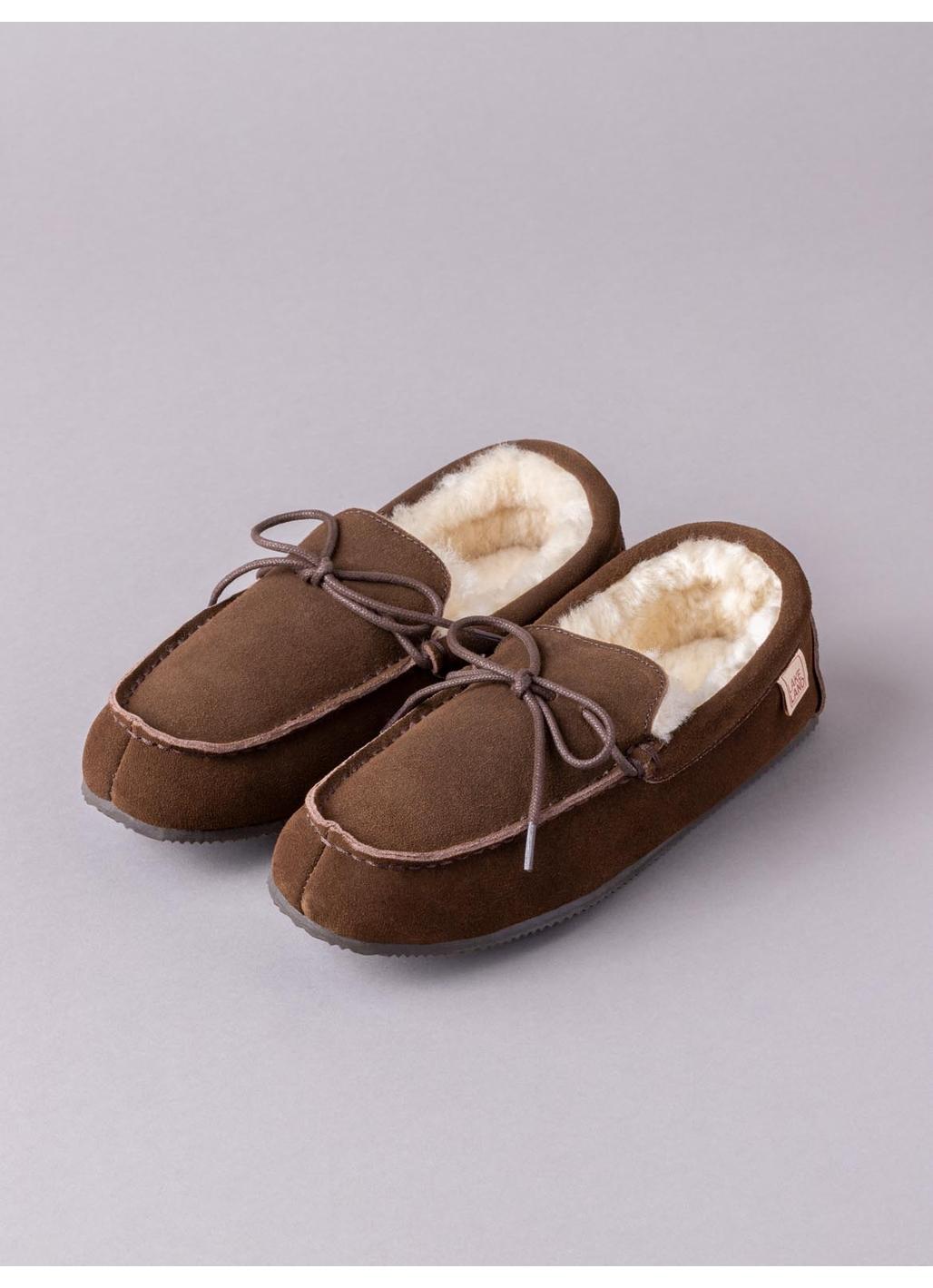 Men's Sheepskin Moccasins in Brown