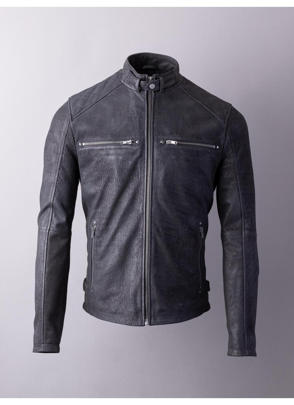 Hamish Leather Jacket in Black