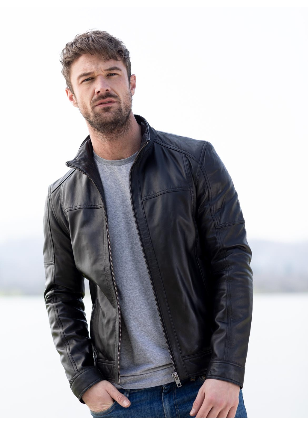 Penrith Leather Jacket in Black