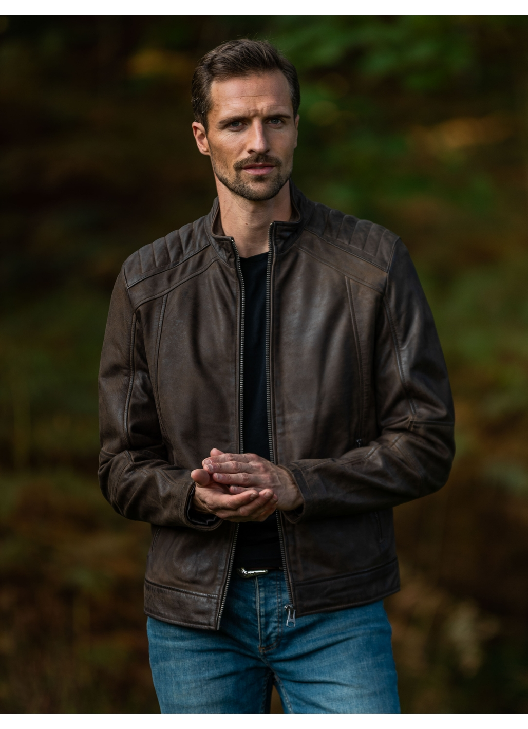 Clifton Leather Jacket in Brown