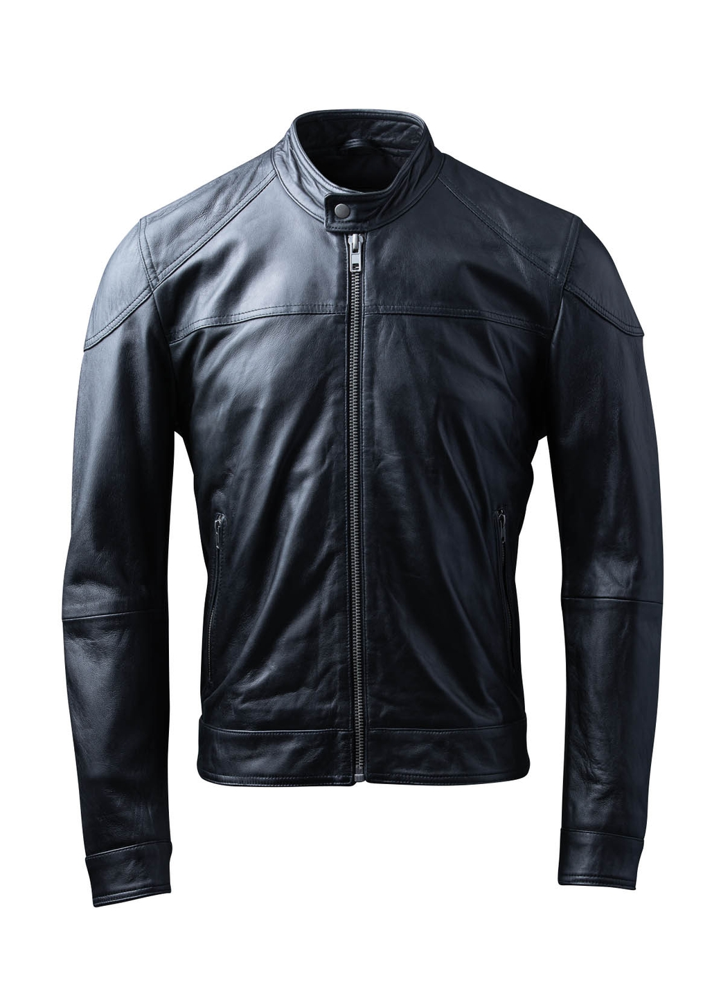 Carleton Leather Jacket in Black
