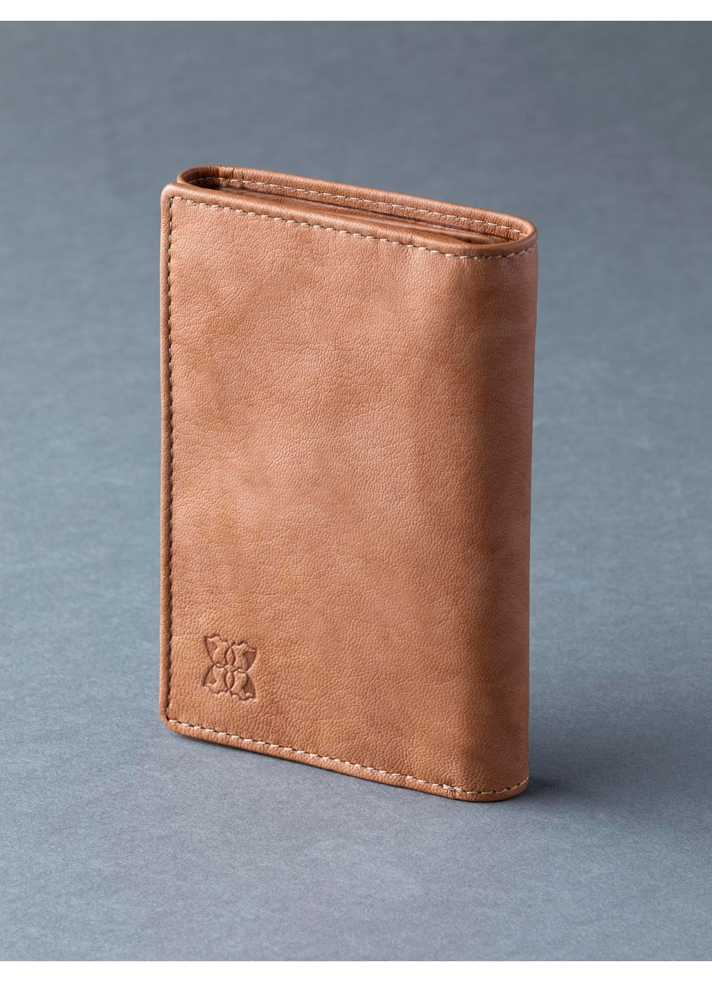 Bowston Tri-Fold Leather Wallet in Cognac