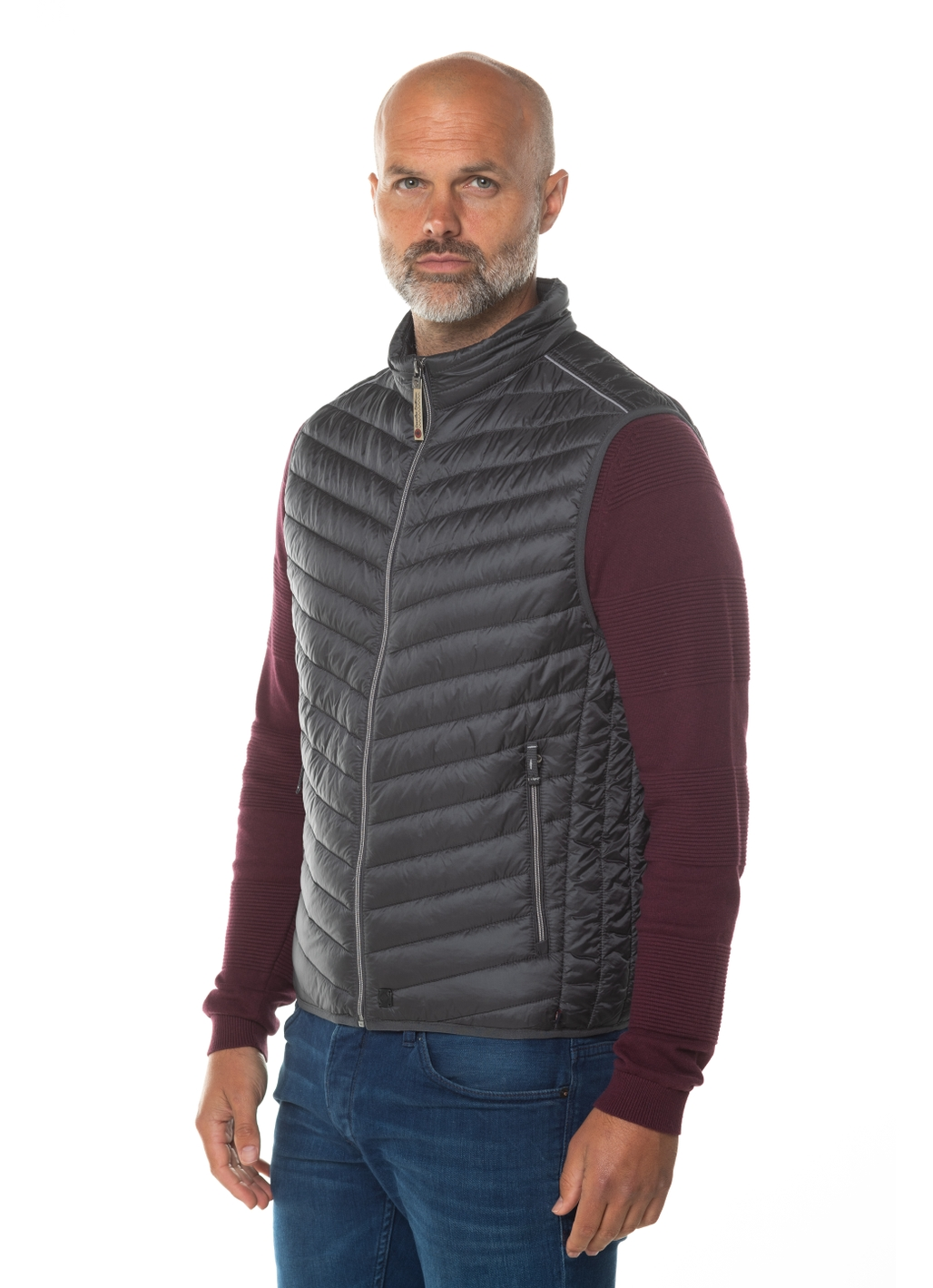 Wade Padded Gilet in Steel