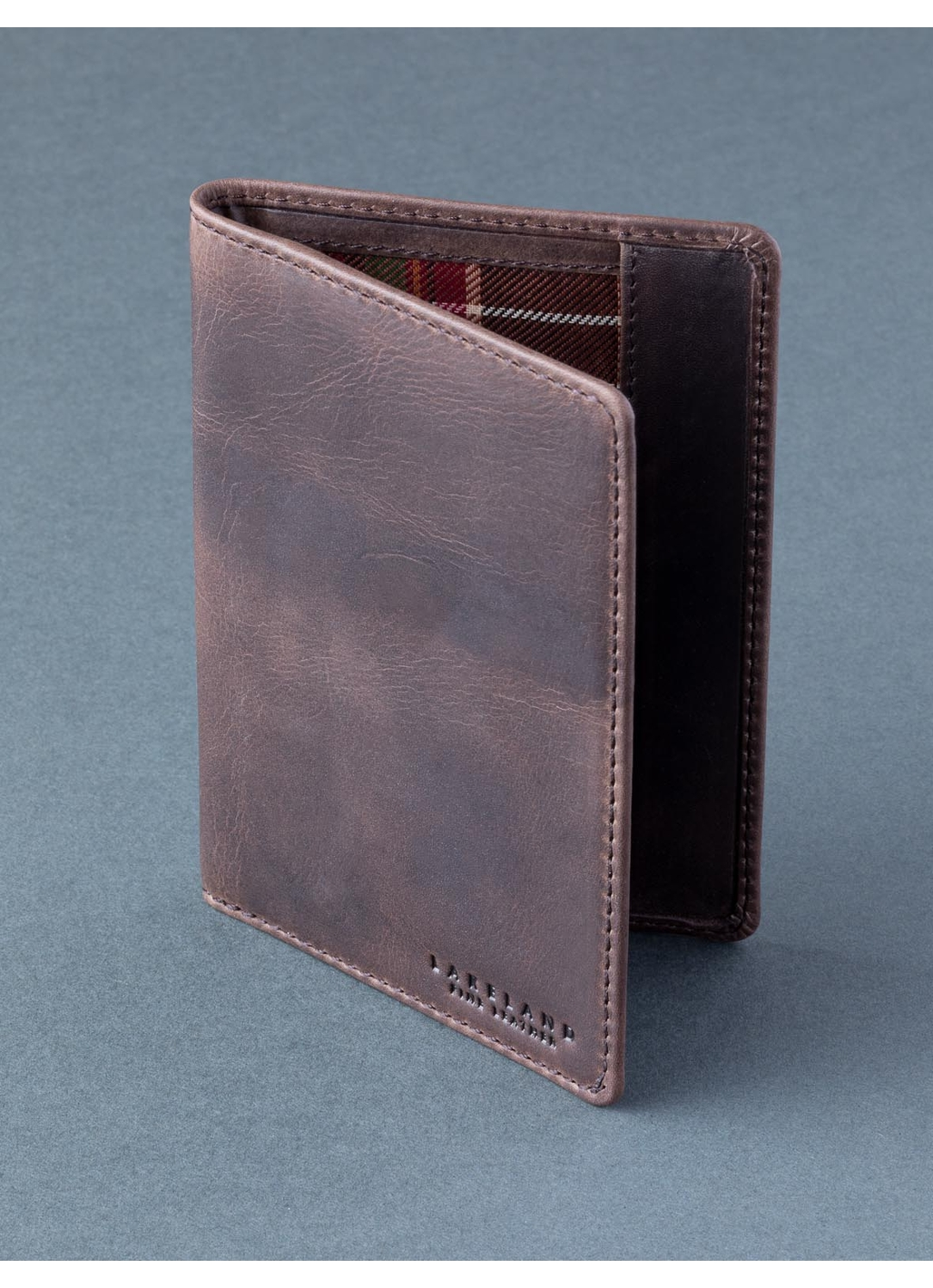 Walton Leather Passport Cover in Brown